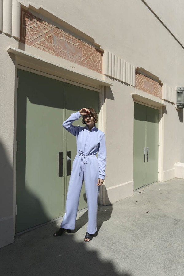 Maryam Nassir Zadeh Paloma Knit Jumpsuit in Periwinkle