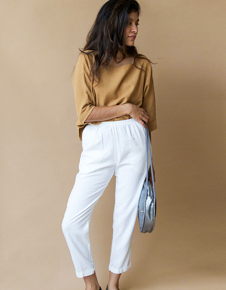 Me & Arrow Cuff Pants, Off White