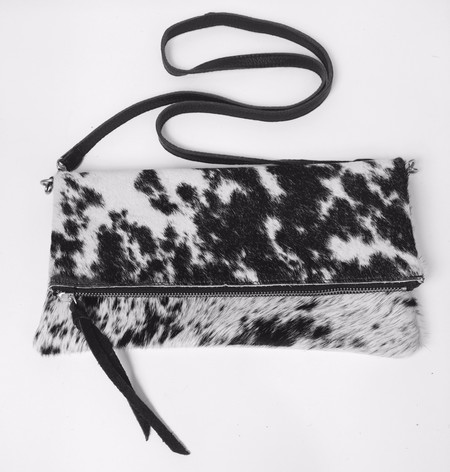 Oliveve anastasia cross body in black natural hair calf leather