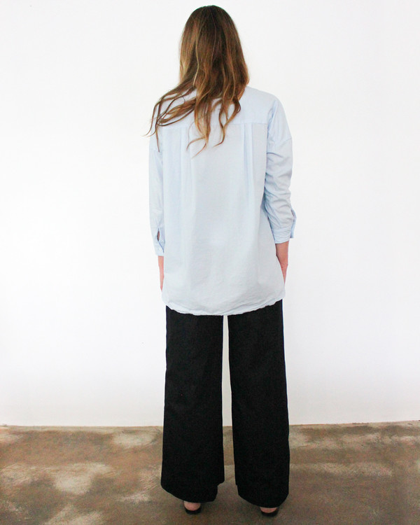 Esby STELLA L/S BUTTON DOWN - SKY BLUE