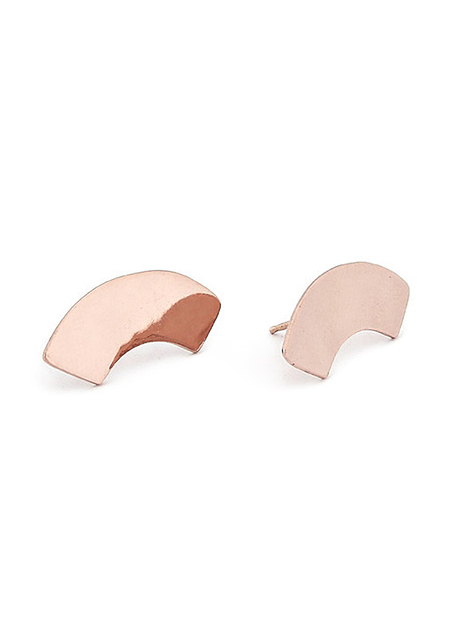 Erin Consideine Arc Studs Rose Gold