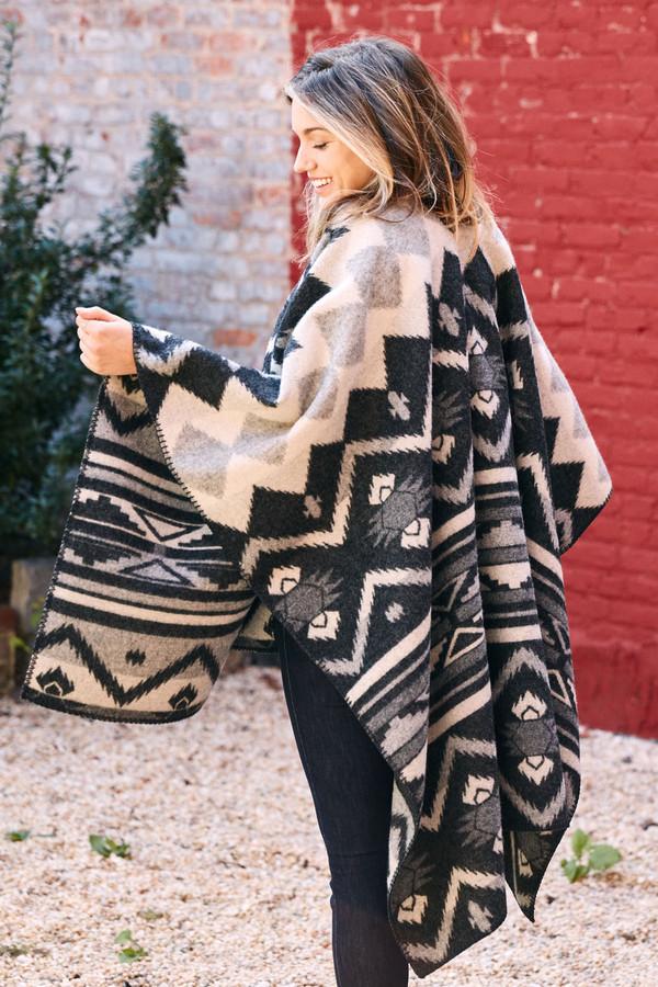 Woolrich 50x70 Somerton Wool Blanket Poncho
