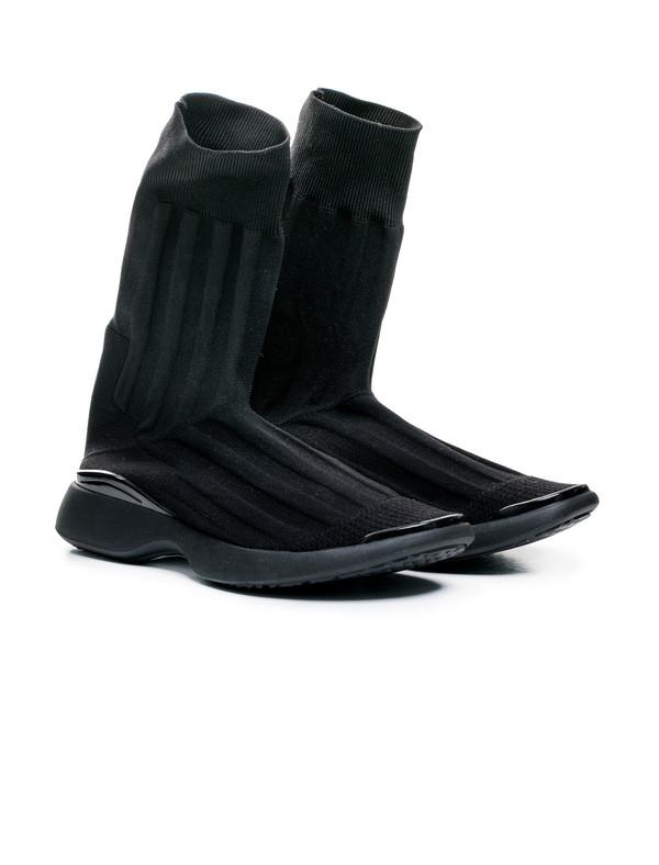 Acne Studios Womens Batilda Knit Boot Black