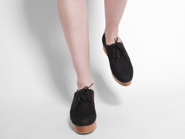 Sydney Brown Platform Derby - Charcoal/Natural