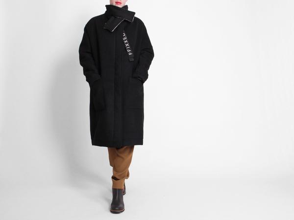 ffiXXed Collar Coat - Black