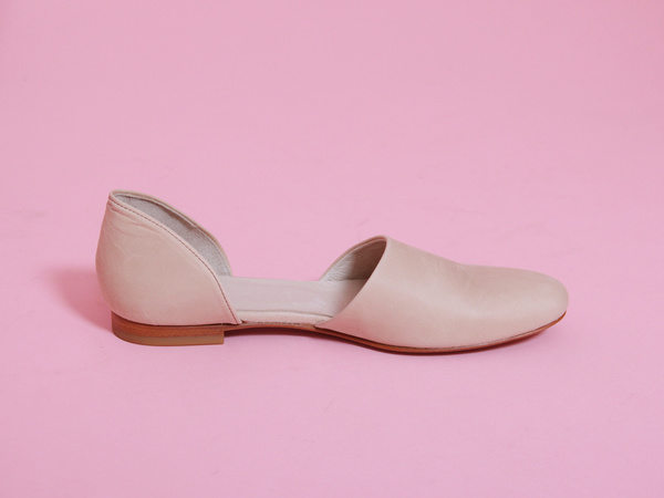 Evam Eva Leather Separate Shoes - Sand
