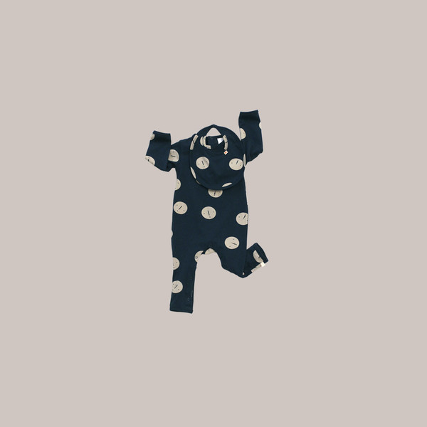 Kid's Tiny Cottons FACES ONE PIECE - NAVY