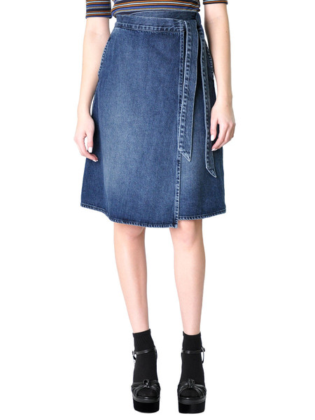 FIDELITY DENIM PIXIE HIGH WAIST SKIRT IN PICCADILLY