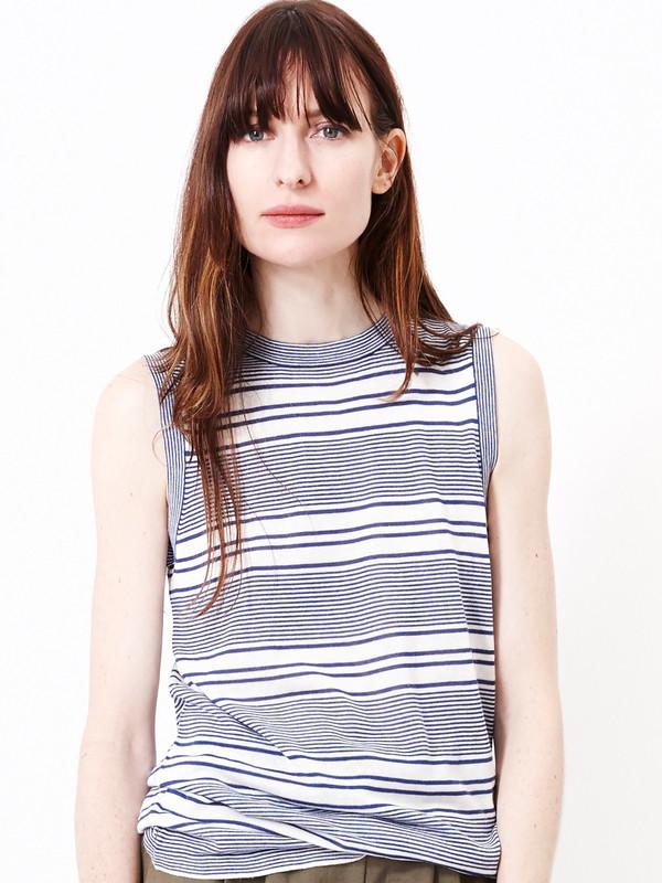 JENNI KAYNE Cashmere Jersey Striped Shell