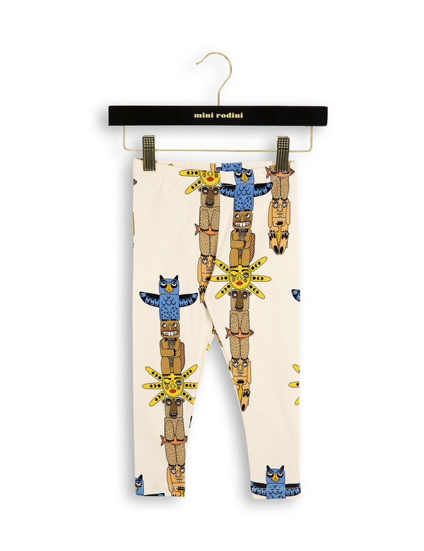 Kid's Mini Rodini TOTEM LEGGINGS - BEIGE
