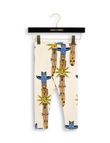 Kid's Mini Rodini TOTEM LEGGINGS - BEIGE