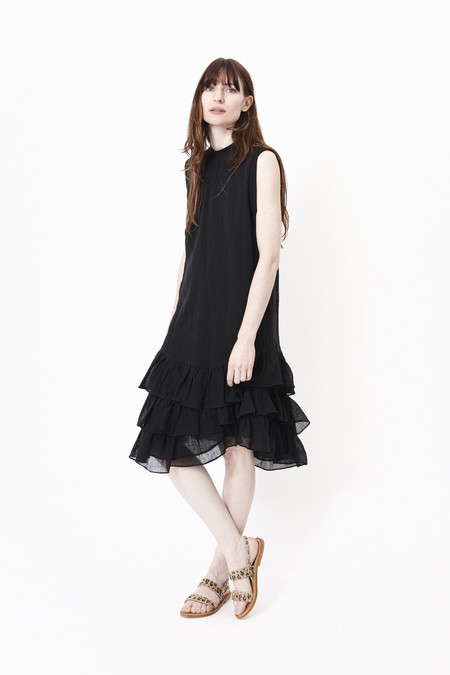 HEIDI MERRICK Iberian Muscle Tank Dress in Black