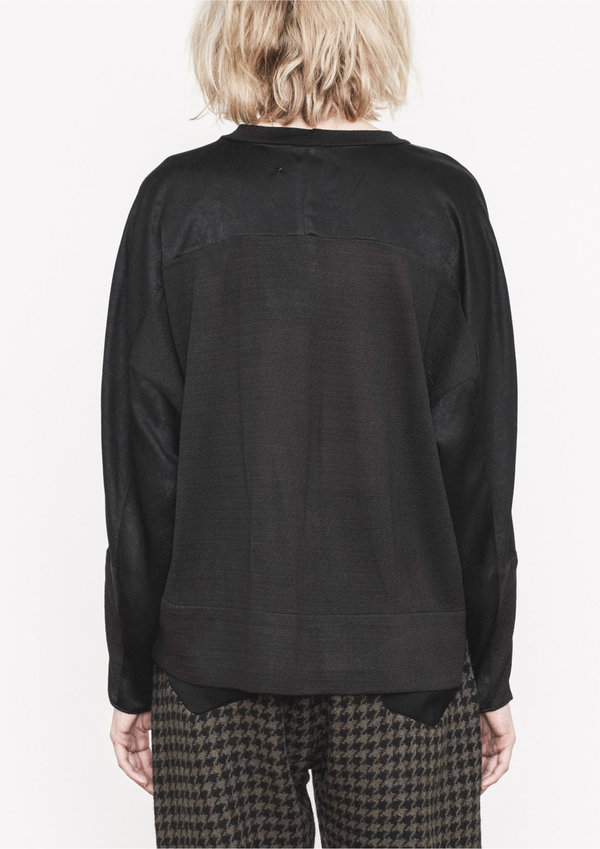Berenik SHIRT BLACK SHINY/MATT