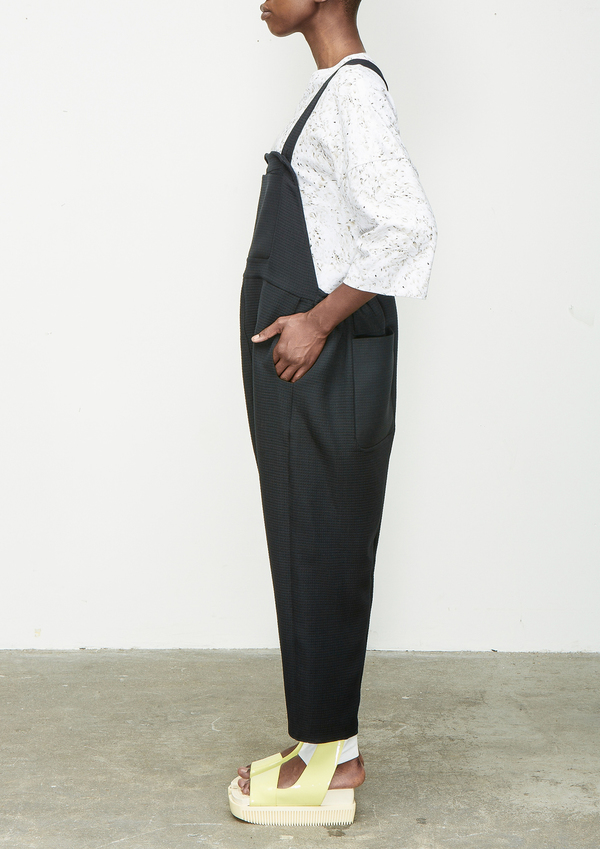 BIBS TROUSERS RECTANGLE WAFFLE POLY – BLACK