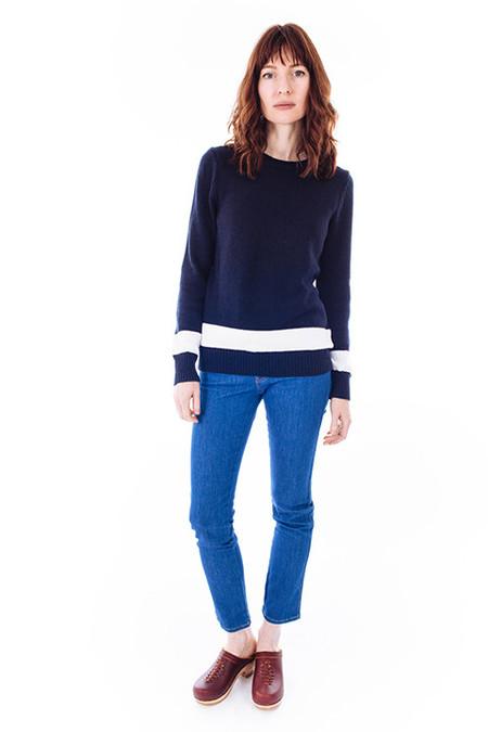 Jenni Kayne Striped Navy & White Sweater