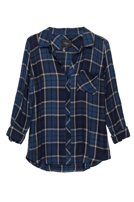Rails Hunter Button Down in Sapphire & Navy