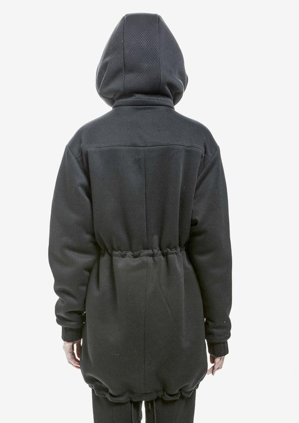 Berenik Jacket Hood Bias Triacetate - Black Bias