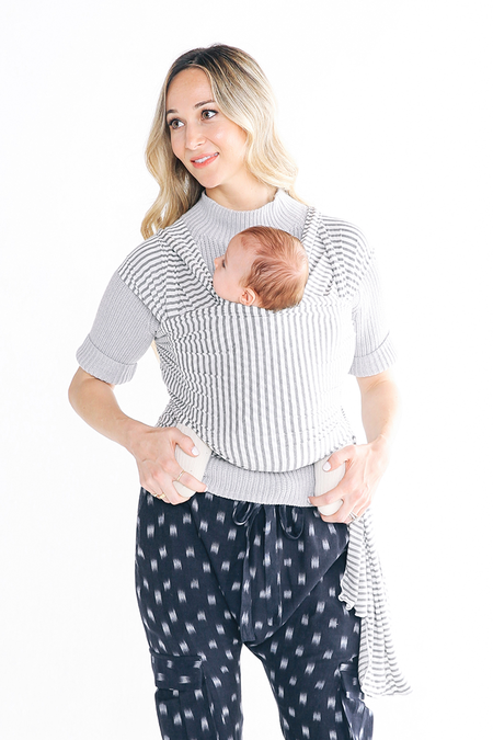 Solly Baby Wrap - Natural Stripe & Grey