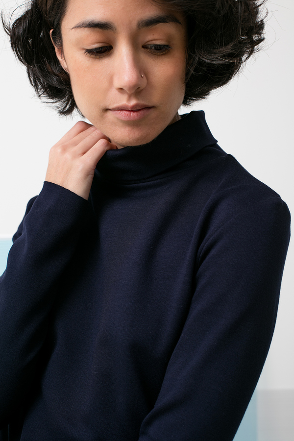 The Body Turtleneck by Jesse Kamm - Navy