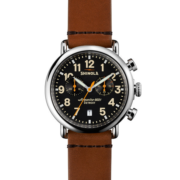 Shinola Detroit - The Runwell Chrono 41mm - Black Dial