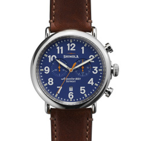 Shinola Detroit The Runwell Chrono 47mm - Matte Blue Dial