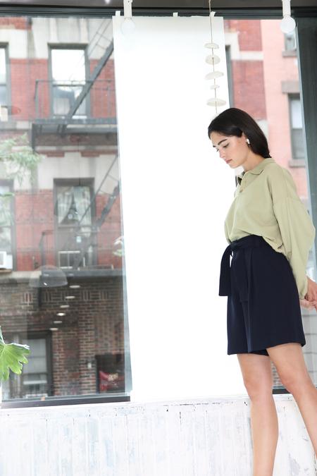 DUO NYC Vintage Ungaro Pleated Shorts