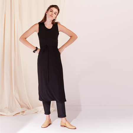 Kowtow Building Block envelope dress - black