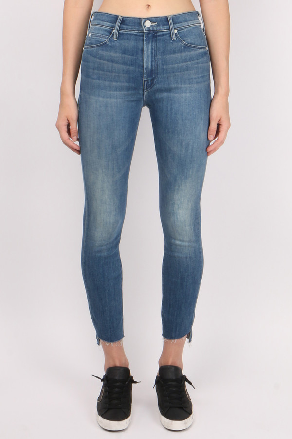 Mother Denim Stunner Ankle Step Fray