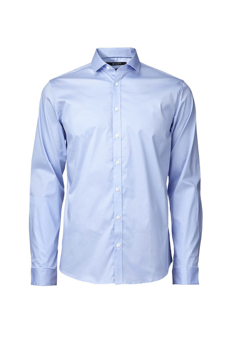 Men's Tiger of Sweden Steel 1 Cotton Shirt -  Blue