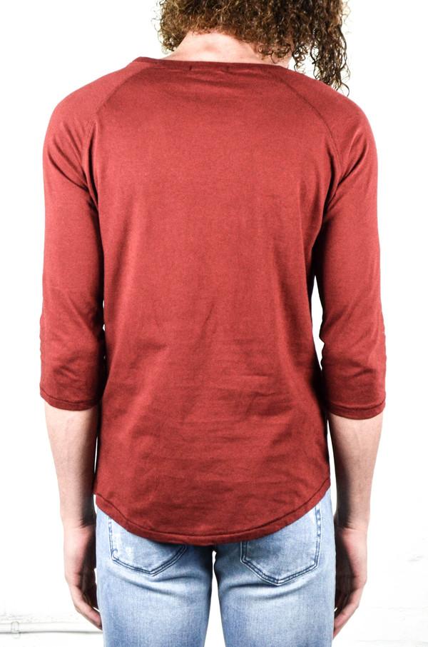 Men's Nudie Burnt Red Quarter Sleeve Tee