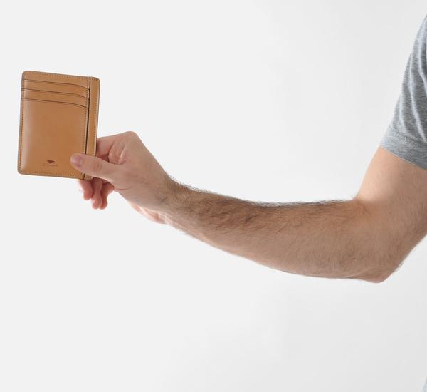 Il Bussetto Burnt Orange Card Case Wallet