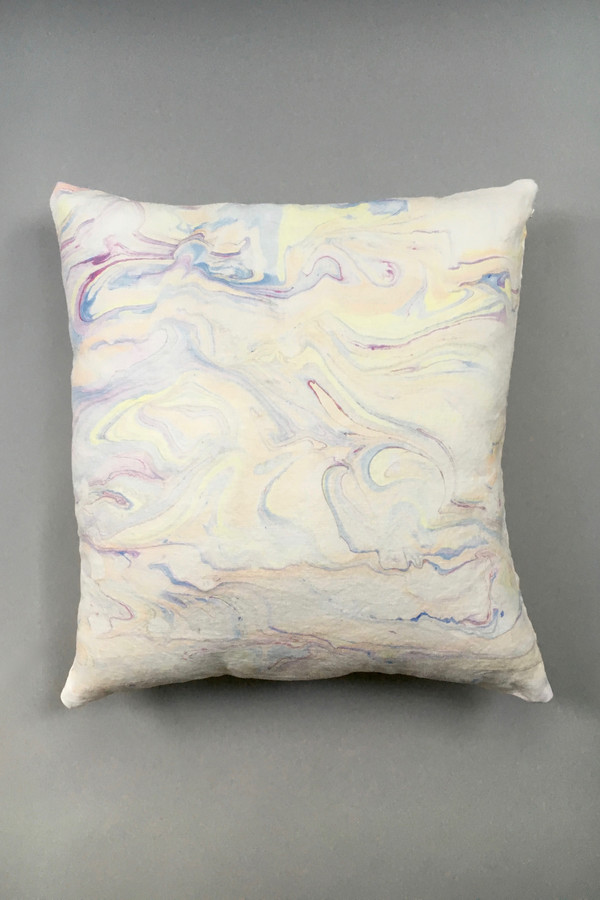Christina Kosinski Marbled Linen Pillow, Lavender Mix