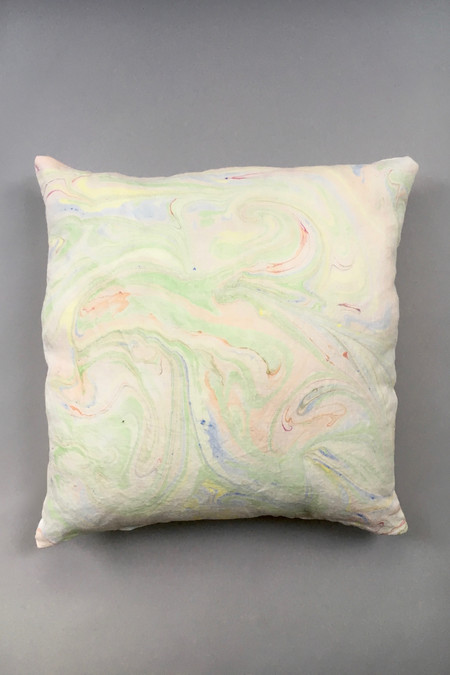 Christina Kosinski Marbled Linen Pillow - Yellow/Green