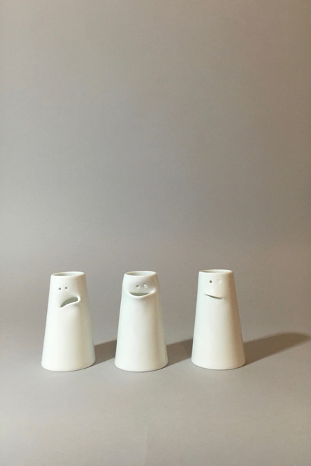 Spin Ceramics Faces Vase Set