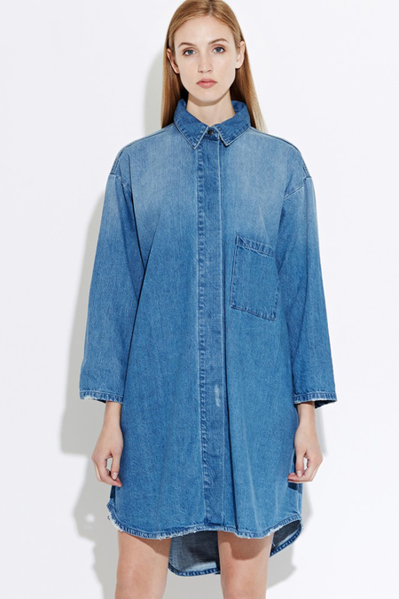 WAVEN Sigvor Shirt Dress- Sea Blue