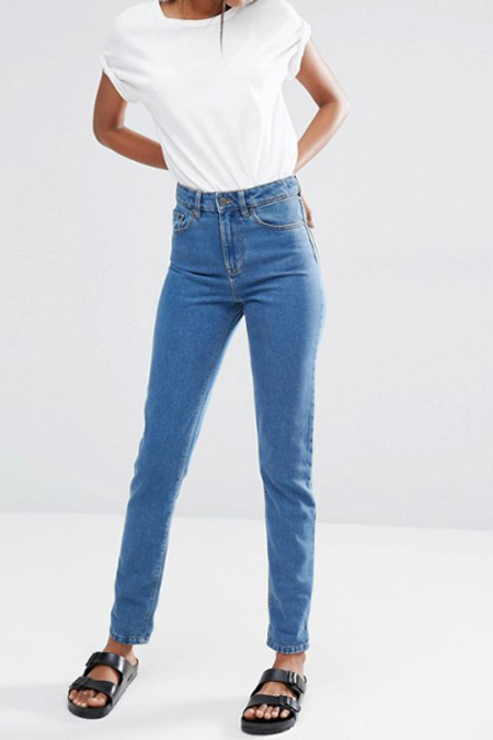 WAVEN Elsa Mom Jeans- Kelly Blue