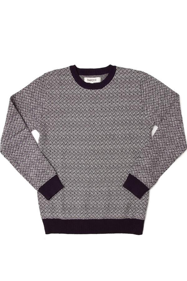 Men's Barque Crosshatch Sweater Navy