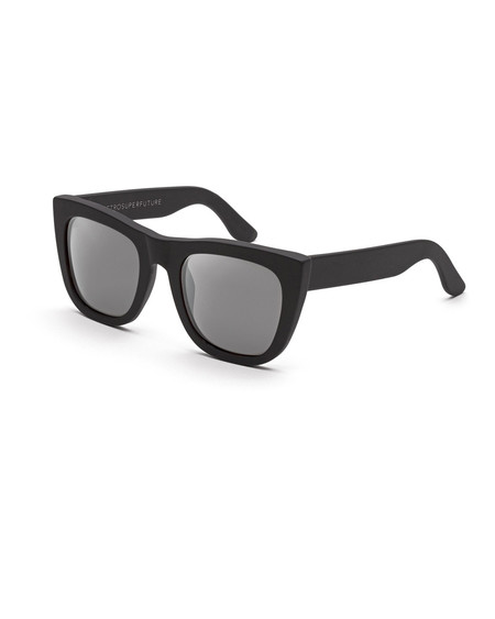 RetroSuperFuture Gals Sunglasses in Matte Black Mirror