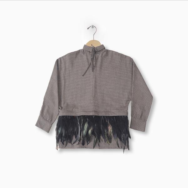 Andorine Feather Check Shirt