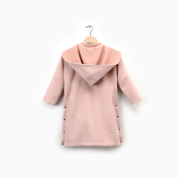 Andorine Pink Oversized Long Cape