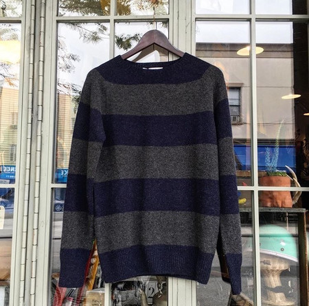 Harley of Scotland Striped Crewneck Pullover