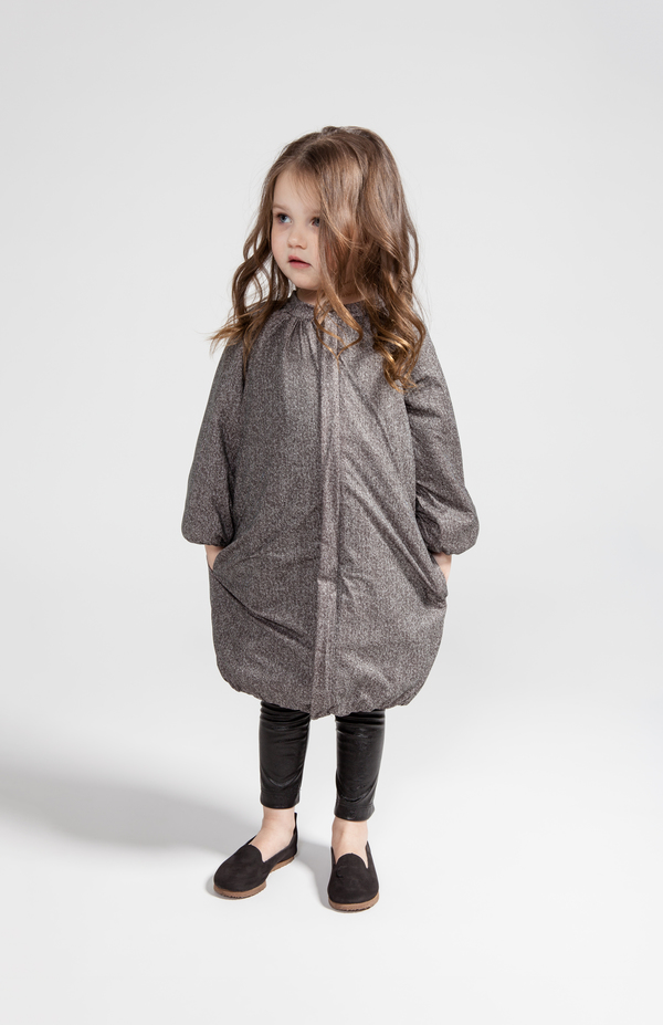 OMAMImini Taupe Bubble Coat