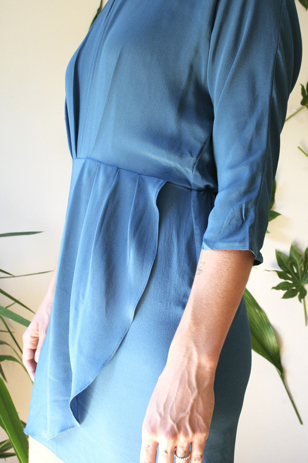 COVET MARINE WRAP DRESS