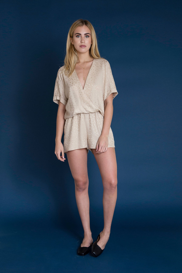 BETWEEN TEN Anita Romper - Gold