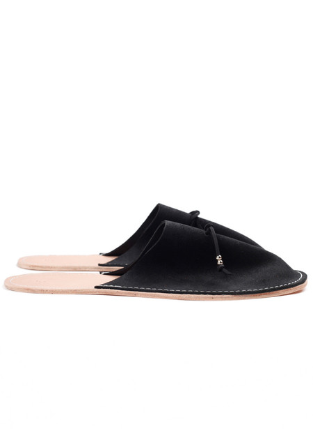Men's MAPLE Home Slippers Suede Black