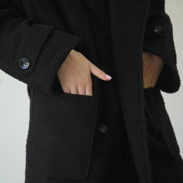 Nikki Chasin Lozano Shawl Collar Coat- Black