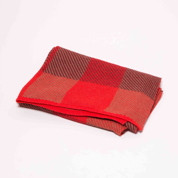 "A Peace Treaty Baby Alpaca Scarf, ""Wazen Red"""
