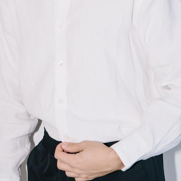 Men's Blluemade Club Collar Long-Sleeve Linen Shirt