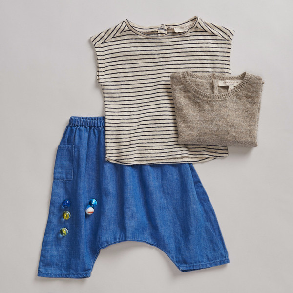 Caramel Baby & Child Cisely Baby T-shirt Breton Stripe