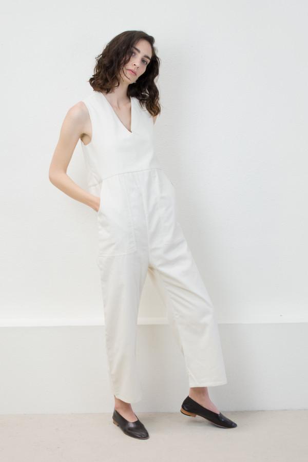 Micaela Greg Cream Utility Jumpsuit
